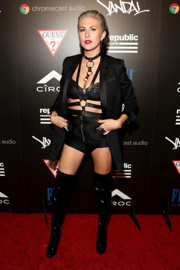 Sarah Barthel of Phantogram attends a celebration with Republic Records and Guess after the 2016 MTV Video Music Awards at Vandal with cocktails by Ciroc on August 28, 2016 in New York City. (Photo by Rob Kim/Getty Images for Republic Records)