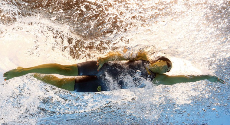 Italy's Erika Ferraioli competes during a women's 50-meter freestyle heat during the swimming competitions at the 2016 Summer Olympics in Rio de Janeiro, Brazil, Friday, Aug. 12, 2016. (AP Photo/Lee Jin-man)