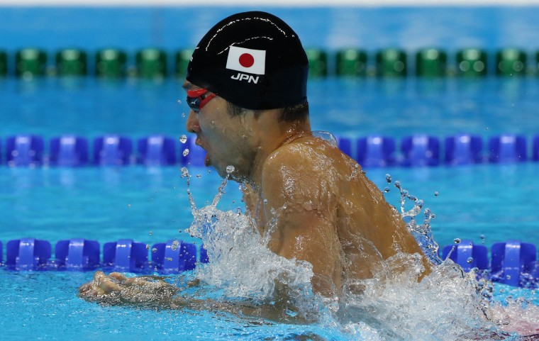 Japan's Kosuke Hagino competes in a semifinal of the men's 200-meter individual medley during the swimming competitions at the 2016 Summer Olympics, Wednesday, Aug. 10, 2016, in Rio de Janeiro, Brazil. (AP Photo/Lee Jin-man)