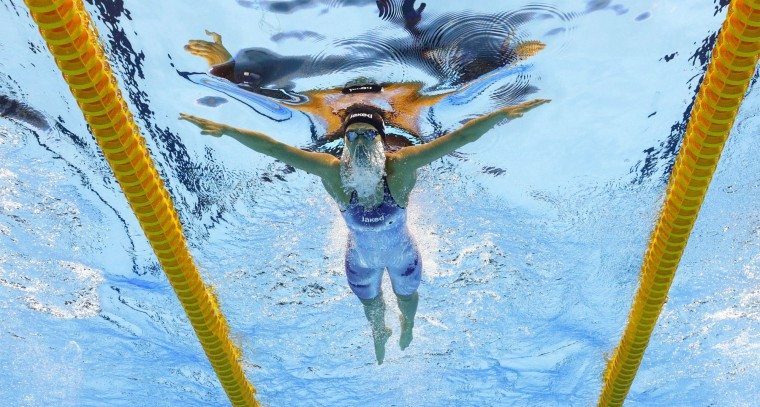 Japan's Rie Kaneto competes in a semifinal of the women's 200-meter breaststroke during the swimming competitions at the 2016 Summer Olympics in Rio de Janeiro, Brazil, Wednesday, Aug. 10, 2016. (AP Photo/David J. Phillip)