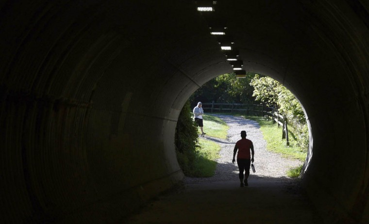 A tunnel passes beneath Belair Road just off the parking lot in the central area of the Gunpowder Falls State Park. (Kim Hairston, Baltimore Sun)