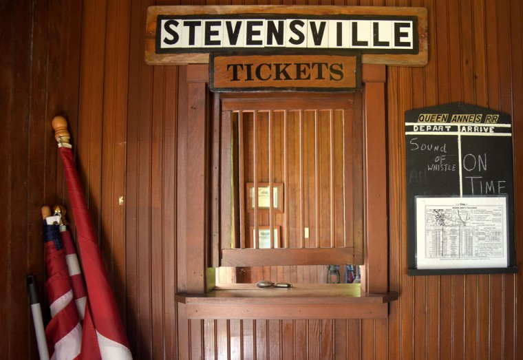 The Stevensville Train Station terminal building was part of Queen Anne's Railroad Company that provided transportation east and west from Queenstown, Md. to Lewes, Del. The station was originally located in Love Point on Kent Island in 1902. After the Bay Bridge was built in 1952, the terminal became obsolete, and was subsequently donated along with the train car to the Kent Island Heritage Society in Stevensville, Md. which restored them. (Algerina Perna/Baltimore Sun)