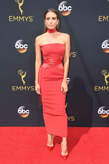 LOS ANGELES, CA - SEPTEMBER 18: TV personality Renee Bargh attends the 68th Annual Primetime Emmy Awards at Microsoft Theater on September 18, 2016 in Los Angeles, California. (Photo by Frazer Harrison/Getty Images)