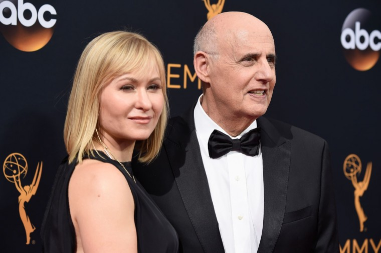 LOS ANGELES, CA - SEPTEMBER 18: Actor Jeffrey Tambor (R) and Kasia Tambor attend the 68th Annual Primetime Emmy Awards at Microsoft Theater on September 18, 2016 in Los Angeles, California. (Photo by Frazer Harrison/Getty Images)