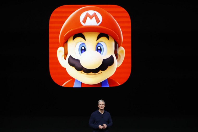 Apple CEO Tim Cook speaks on stage during a launch event on September 7, 2016 in San Francisco, California. Apple Inc. unveiled the latest iterations of its smart phone, the iPhone 7 and 7 Plus, the Apple Watch Series 2, as well as AirPods, the tech giant's first wireless headphones. (Photo by Stephen Lam/Getty Images)