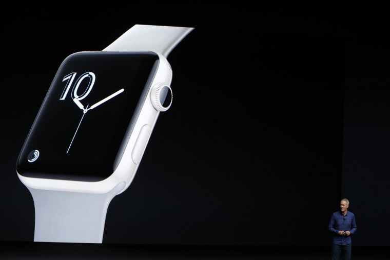 Apple COO Jeff Williams introduces the new Apple Watch Series 2 smartwatch in ceramic during a launch event on September 7, 2016 in San Francisco, California. Apple Inc. unveiled the latest iterations of its smart phone, the iPhone 7 and 7 Plus, the Apple Watch Series 2, as well as AirPods, the tech giant's first wireless headphones. (Photo by Stephen Lam/Getty Images)