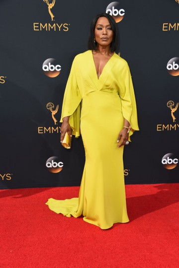Actress Angela Bassett arrives for the 68th Emmy Awards on September 18, 2016 at the Microsoft Theatre in Los Angeles. (AFP PHOTO / Robyn Beck)