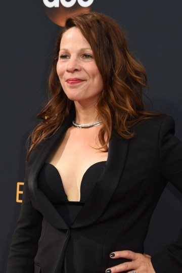 Lili Taylor arrives for the 68th Emmy Awards on September 18, 2016 at the Microsoft Theatre in Los Angeles. (AFP PHOTO / Robyn Beck)