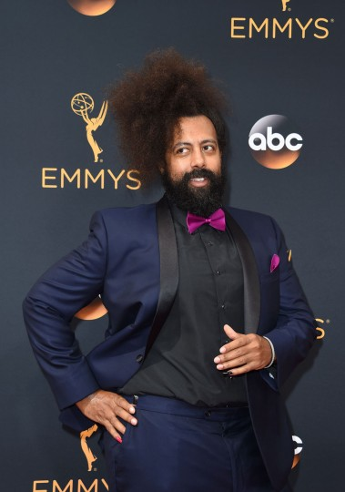 Musician Reggie Watts arrives for the 68th Emmy Awards on September 18, 2016 at the Microsoft Theatre in Los Angeles. (AFP PHOTO / Robyn Beck)