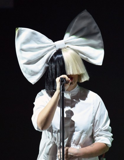 Singer Sia performs on stage during an Apple event at Bill Graham Civic Auditorium in San Francisco, California on September 07, 2016. (Josh Edelson/AFP/Getty Images)