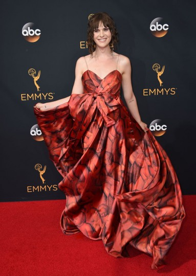 Hari Nef arrives at the 68th Primetime Emmy Awards on Sunday, Sept. 18, 2016, at the Microsoft Theater in Los Angeles. (Photo by Jordan Strauss/Invision/AP)