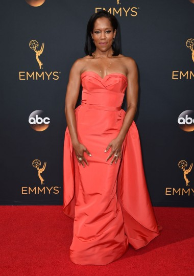 Regina King arrives at the 68th Primetime Emmy Awards on Sunday, Sept. 18, 2016, at the Microsoft Theater in Los Angeles. (Photo by Jordan Strauss/Invision/AP)