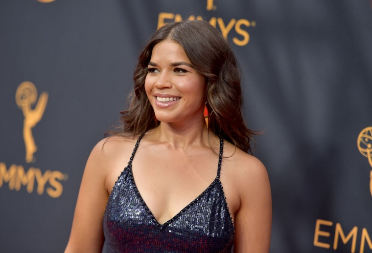 America Ferrera arrives at the 68th Primetime Emmy Awards on Sunday, Sept. 18, 2016, at the Microsoft Theater in Los Angeles. (Photo by Richard Shotwell/Invision/AP)
