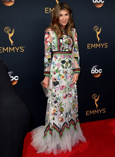 Nina Garcia arrives at the 68th Primetime Emmy Awards on Sunday, Sept. 18, 2016, at the Microsoft Theater in Los Angeles. (Photo by Jordan Strauss/Invision/AP)