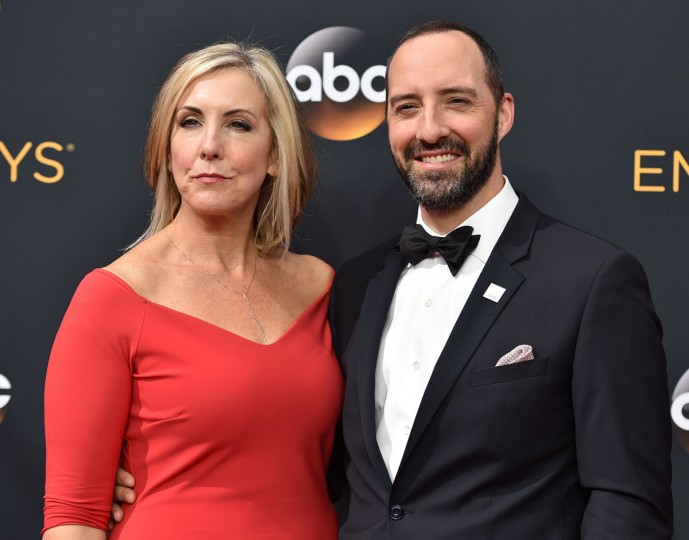 Martel Thompson, left, and Tony Hale arrive at the 68th Primetime Emmy Awards on Sunday, Sept. 18, 2016, at the Microsoft Theater in Los Angeles. (Photo by Jordan Strauss/Invision/AP)