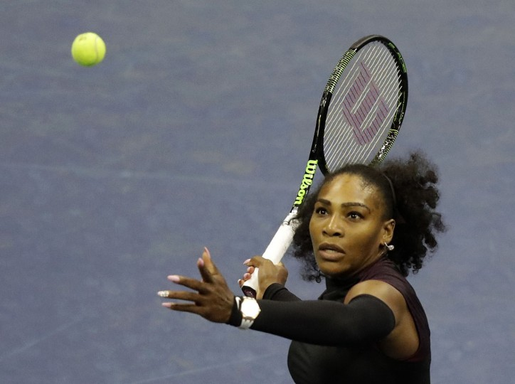 Serena Williams during the second round of the U.S. Open tennis tournament, Thursday, Sept. 1, 2016, in New York. (AP Photo/Julio Cortez)
