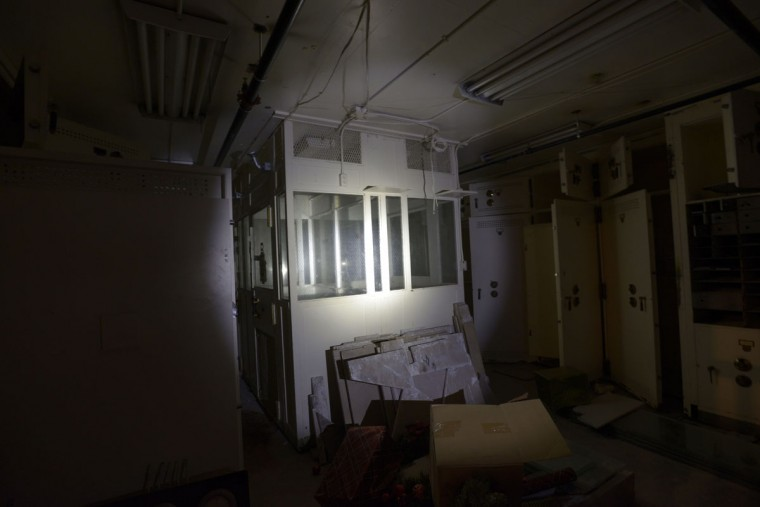 The vault contains what was once reportedly a holding cell for prisoners awaiting trial at the Courthouse, which was once connected to the building via tunnel. (Christina Tkacik/Baltimore Sun)