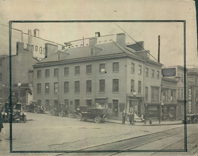 This 1921 photo from The Sun's archives shows the site of the Federal Reserve Bank of Richmond's Baltimore branch before the building was constructed. The property was originally owned by the Abell estate.