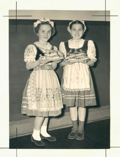 Undated photo of girls wearing Czechoslovakian costumes. (Leroy B. Merriken/Baltimore Sun)
