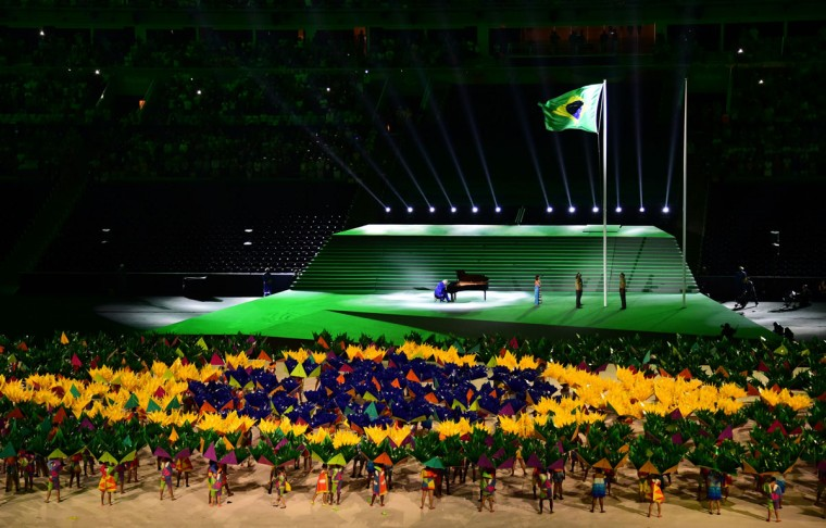 Opening ceremony of the Paralympic Games in Maracana stadium in Rio de Janeiro, on September 7, 2016. (TASSO MARCELO/AFP/Getty Images)