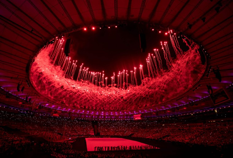 View of the Opening Ceremony of the Rio 2016 Paralympic Games at the Maracana Stadium in Rio de Janeiro, Brazil, on September 7, 2016. (Photo by Bob Martin/OIS/IOC via AFP)