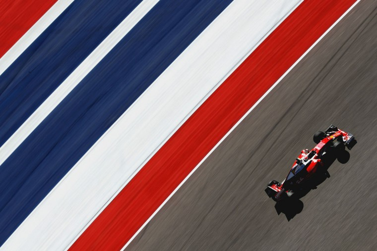Kimi Raikkonen of Finland driving the (7) Scuderia Ferrari SF16-H Ferrari 059/5 turbo (Shell GP) on track during practice for the United States Formula One Grand Prix at Circuit of The Americas on October 21, 2016 in Austin, United States. (Photo by Mark Thompson/Getty Images)