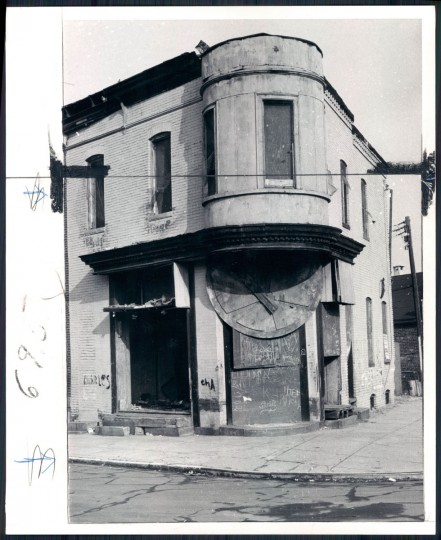 Vacant building in Baltimore, 1974.