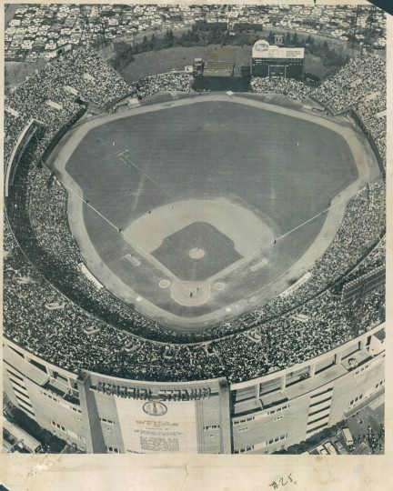 October 9, 1966 - FULL HOUSE -- The full 54,415 fans at Memorial Stadium yesterday was the largest ever to see a baseball game there. (Robert F. Kniesche/Baltimore Sun)