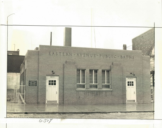 Eastern Avenue Public Baths, photo dated 1939. (Baltimore Sun)