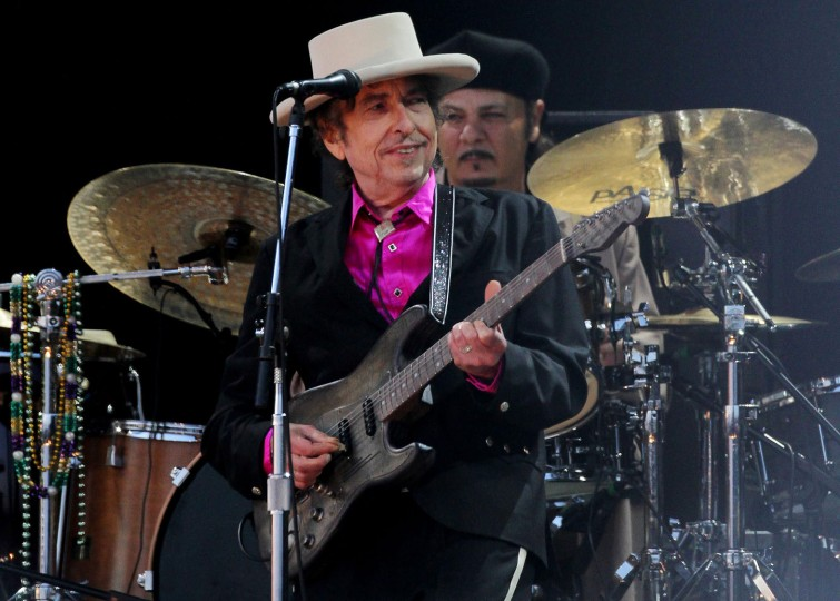 "File photo dated 3/7/2010 of American singer Bob Dylan, who has been hailed as ""a great poet in the English-speaking tradition"" following his surprise win of the Nobel Prize in Literature. (Gareth Fuller/PA Wire/Zuma Press/TNS)"