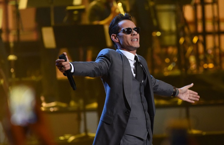 Singer Marc Anthony performs during the show of the 17th Annual Latin Grammy Awards on November 17, 2016, in Las Vegas, Nevada. (Valerie Macon/AFP/Getty Images)