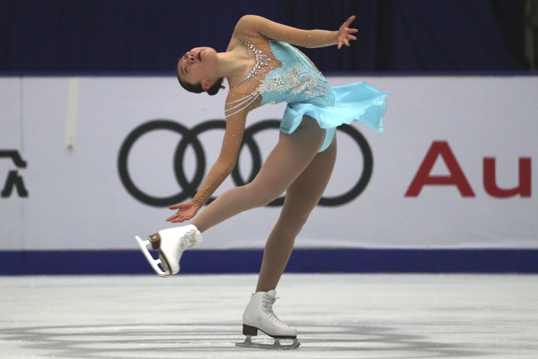 Zhao Ziquan of China competes in the Ladies Short Program of the Audi Cup of China ISU Grand Prix of Figure Skating 2016 held in Beijing's Capital Gymnasium in Beijing, China, Friday, Nov. 18, 2016. (AP Photo/Ng Han Guan)