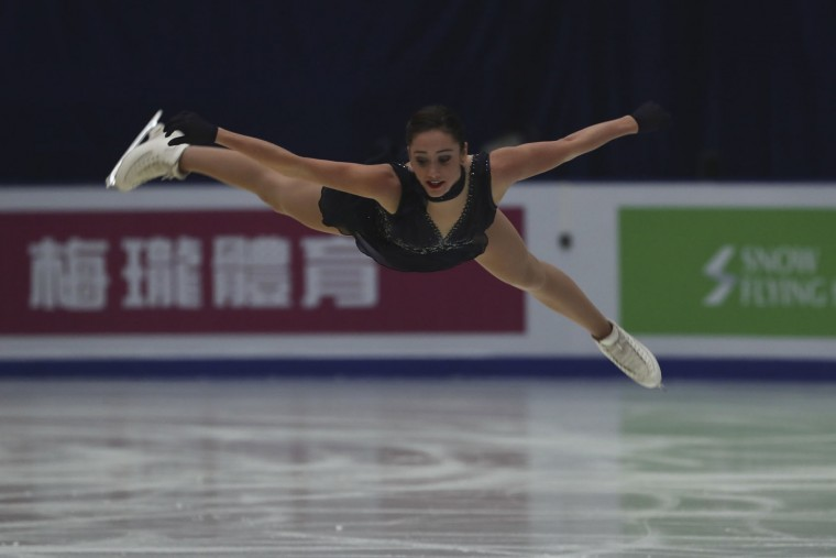 Kaetlyn Osmond of Canada competes in the Ladies Short Program of the Audi Cup of China ISU Grand Prix of Figure Skating 2016 held in Beijing's Capital Gymnasium in Beijing, China, Friday, Nov. 18, 2016. (AP Photo/Ng Han Guan)