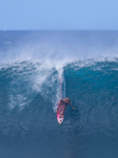Jamie O'Brien of Hawaii rides the waves on December 25, 2016 on the island of Oahu in Hawaii, following competition in Billabong Pipe Masters. Christmas Day at the pipeline was the best day of the winter season so far with huge tubes coming through great surfing rides and heavy wipeouts with the world's best surfers catching waves and dominating the pack. (Brian Bielmann/AFP/Getty Images)