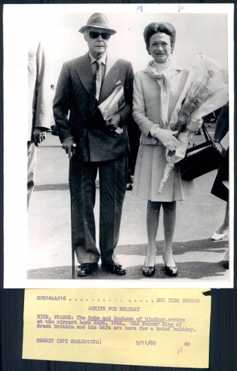 The Duke and Duchess of Windsor in photo dated 1969.