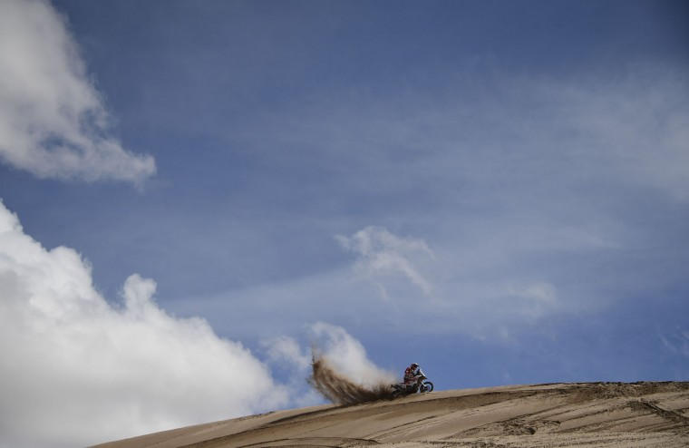 Anastasiya Nifontova of Russia competes during the Stage 4 of the Dakar 2017 between San Salvador de Jujuy and Tupiza, Bolivia, on January 5, 2017. (Franck Fife/AFP/Getty Images)
