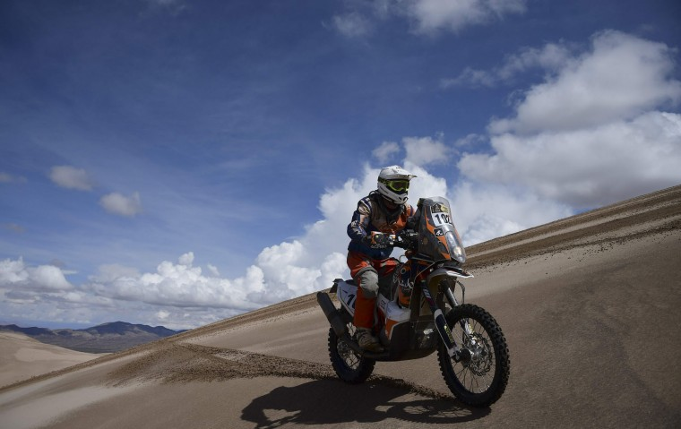 Gilles Van Der Weyen of Belgium competes during the Stage 4 of the Dakar 2017 between San Salvador de Jujuy and Tupiza, Bolivia, on January 5, 2017. (Franck Fife/AFP/Getty Images)