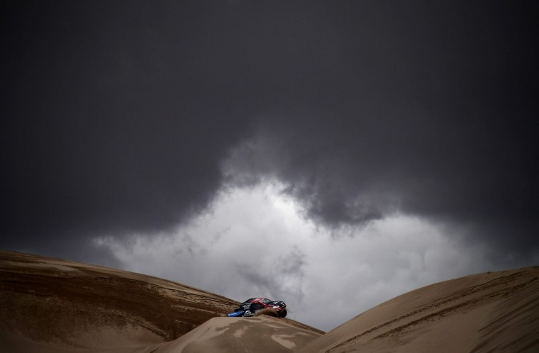 Conrad Rautenbach of Zimbabwe rides during the Stage 4 of the Dakar 2017 between San Salvador de Jujuy and Tupiza, Bolivia, on January 5, 2017. (Franck Fife/AFP/Getty Images)