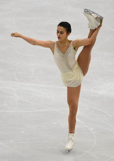 Hungary's Ivett Toth competes during the ladies free skating competition of the European Figure Skating Championship in Ostrava, Czech Republic on January 27, 2017. (Joe Klamar/AFP/Getty Images)