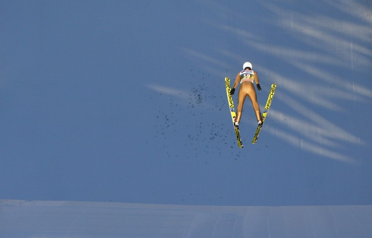 Piotr Zyla of Poland competes during a training session of the Four Hills competition (Vierschanzentournee) of the FIS Ski Jumping World Cup in Innsbruck on January 3, 2017. The third competition of the Four-Hills Ski jumping event takes place in Innsbruck before the tournament continues in Bischofshofen (Austria). (Michal Cizek/AFP/Getty Images)
