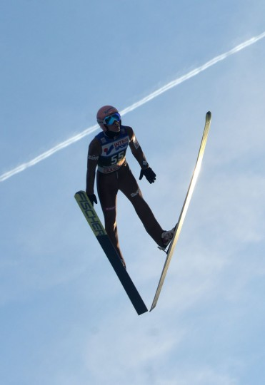 Dawid Kubacki of Poland competes during the qualification of the Four Hills competition (Vierschanzentournee) of the FIS Ski Jumping World Cup in Innsbruck on January 3, 2017. The third competition of the Four-Hills Ski jumping event takes place in Innsbruck before the tournament continues in Bischofshofen (Austria). (Michal Cizek/AFP/Getty Images)
