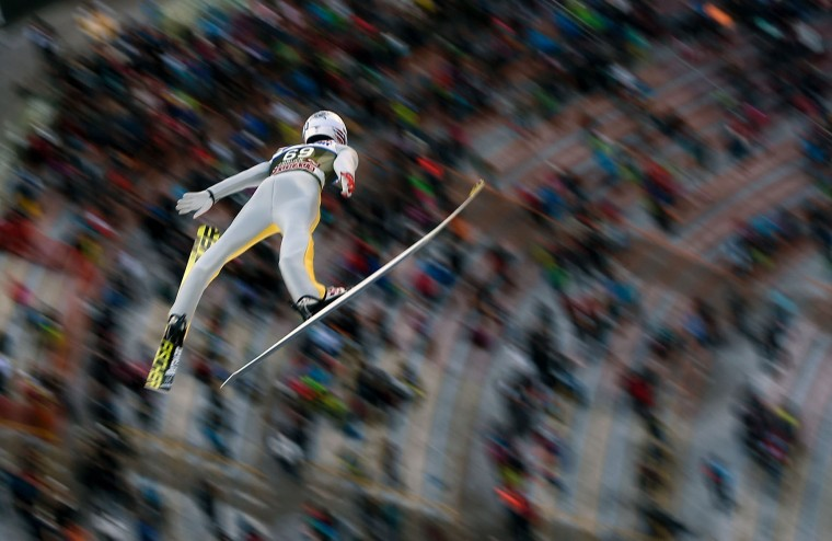 Daniel Andre Tande of Norway competes during the qualification of the Four Hills competition (Vierschanzentournee) of the FIS Ski Jumping World Cup in Innsbruck on January 3, 2017. The third competition of the Four-Hills Ski jumping event takes place in Innsbruck before the tournament continues in Bischofshofen (Austria). (Michal Cizek/AFP/Getty Images)