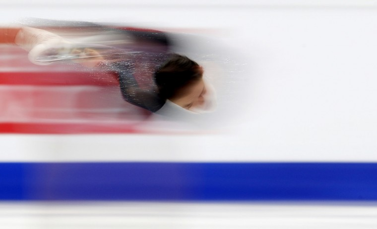 Russia's Evgenia Medvedeva skates her free program at the European Figure Skating Championships in Ostrava, Czech Republic, Friday, Jan. 27, 2017. (AP Photo/Petr David Josek)