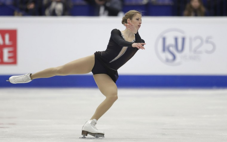Italy's Carolina Kostner skates her free program at the European Figure Skating Championships in Ostrava, Czech Republic, Friday, Jan. 27, 2017. (AP Photo/Petr David Josek)