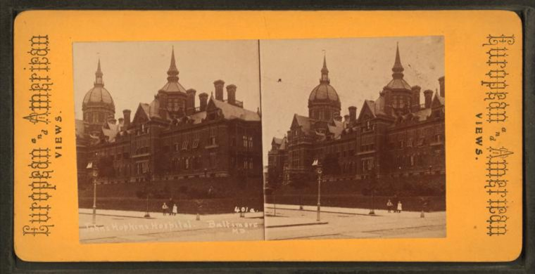 Johns Hopkins Hospital (Image via New York Public Library, Miriam and Ira D. Wallach Division of Arts, Prints and Photographs: Photography Collection)