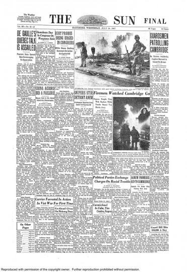 Baltimore Sun: July 26, 1967