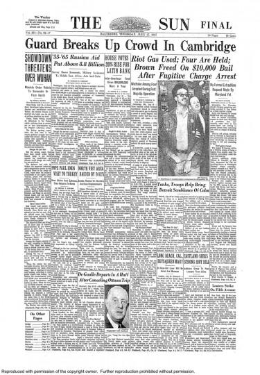 Baltimore Sun: July 27, 1967