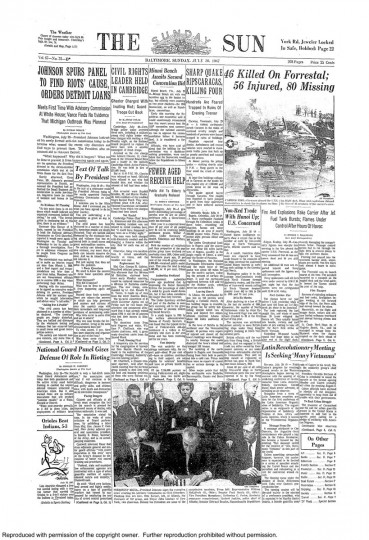Baltimore Sun: July 30, 1967