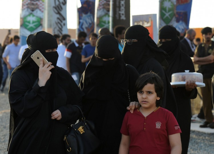Saudi women arrive to attend the first ever Comic-Con event held in the coastal city of Jeddah, on February 16, 2017. The first edition of the US-based pop culture Comic-Con is being held in Saudi Arabia featuring a mix of robots, gaming and Saudi television and film industry luminaries. (Fayez Nureldine/AFP/Getty Images)