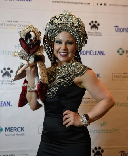 Summer Strand, representing Russia and a contestant in the World Fashion Presents segment poses during the 14th Annual New York Pet Fashion Show presented by TropiClean at the Hotel Pennsylvania February 9, 2017. (TIMOTHY A. CLARY/AFP/Getty Images)